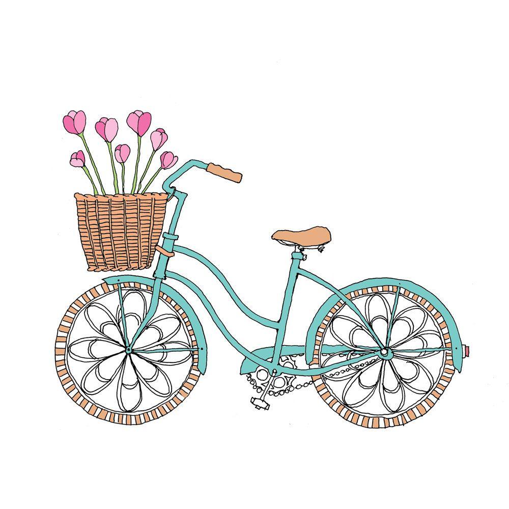 Clipart bicycle spring. Mis laminas para decoupage