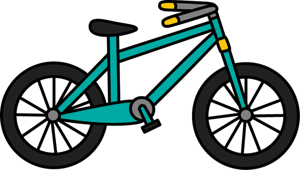 Teal clip art image. Bicycle clipart summer
