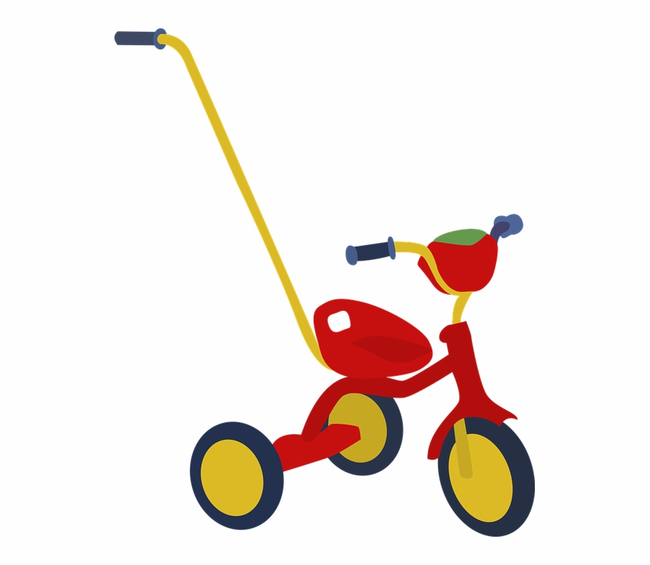Tricycle kid toddler safe. Bicycle clipart toy