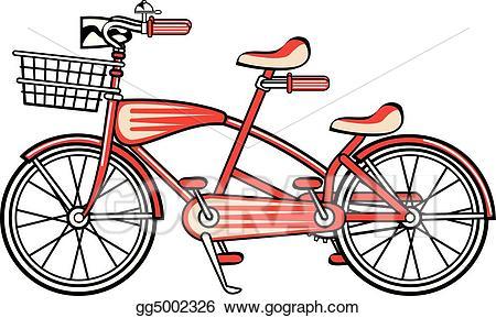 Bicycle clipart toy. Eps illustration vintage bike
