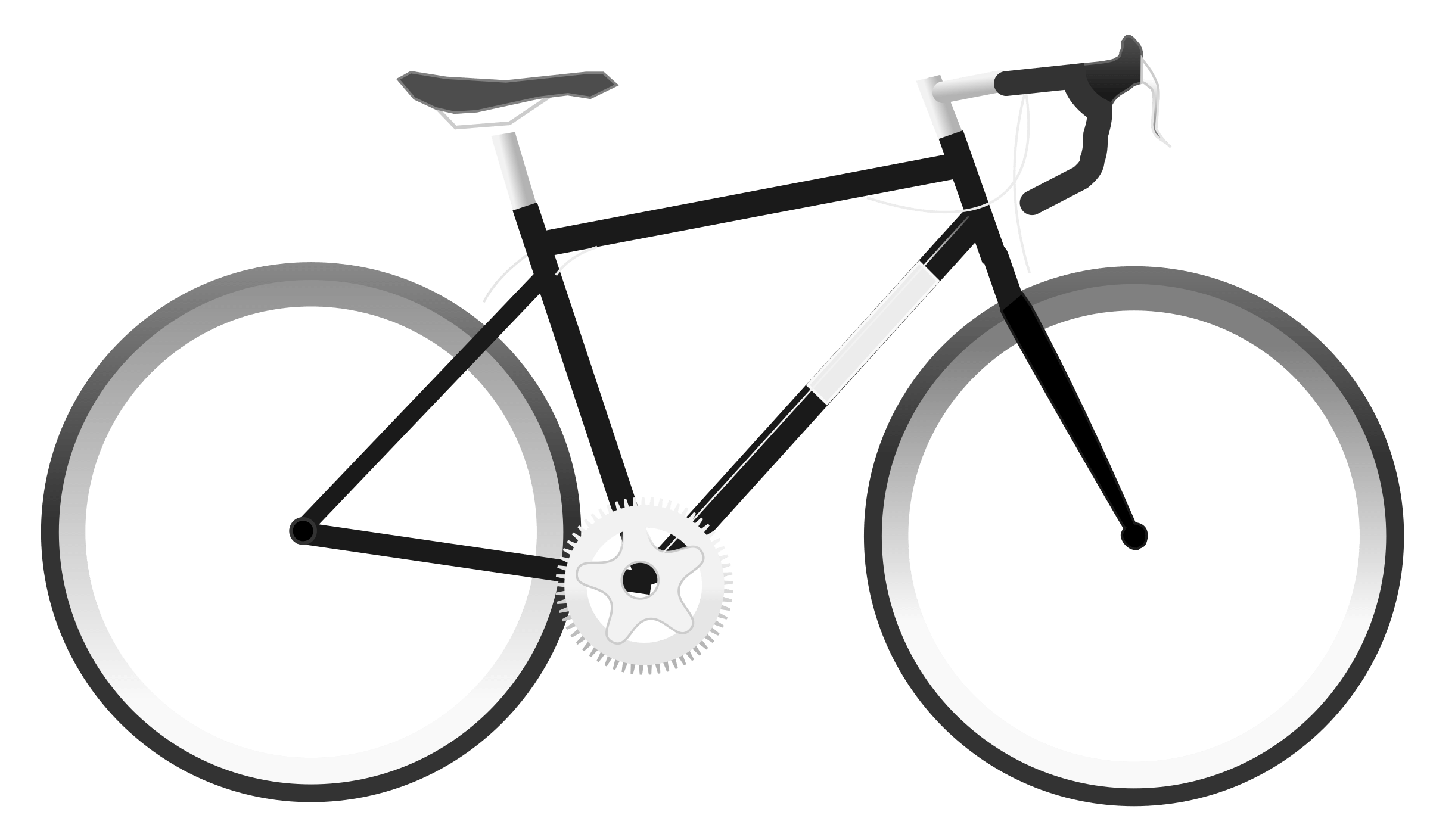 Simple transparent png stickpng. White clipart bike