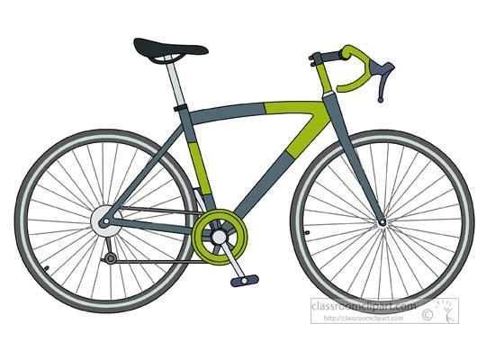 Bicycle road racing classroom. Bike clipart transportation