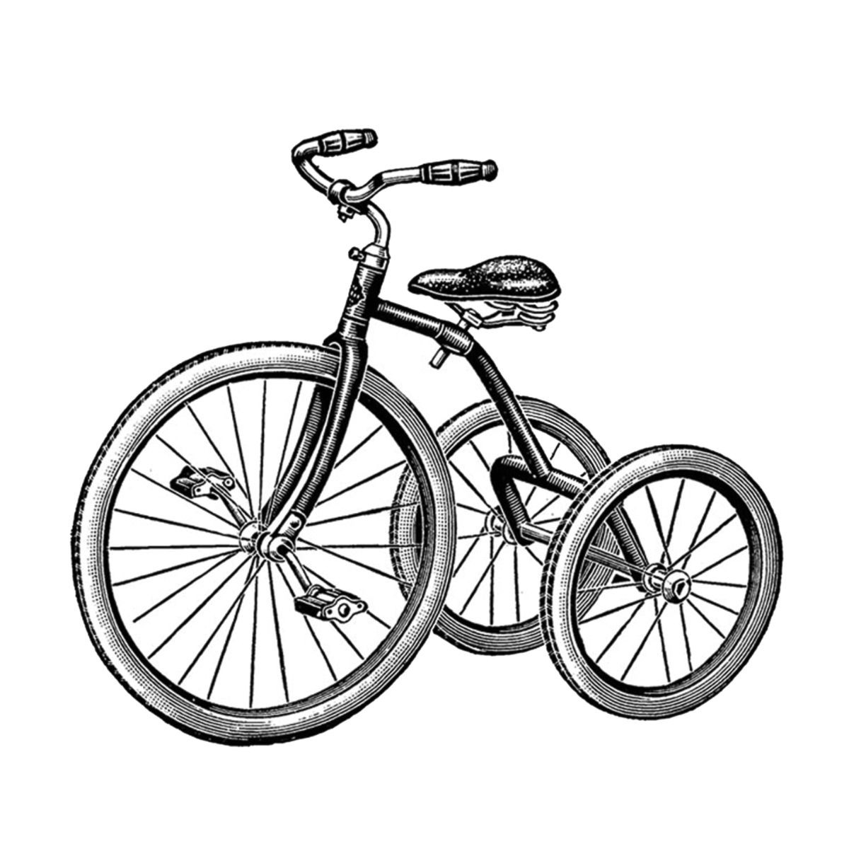Free vintage clip art. Biking clipart tricycle
