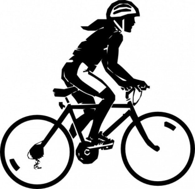 Bicycle clipart vector. Steren bike rider clip