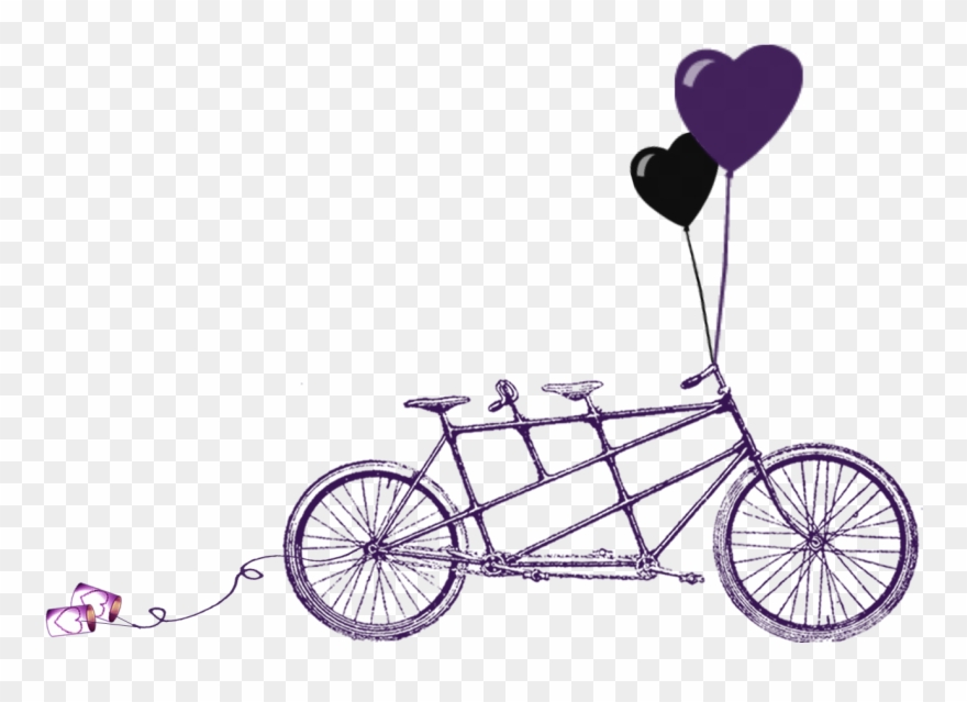 Tandem pinclipart . Bicycle clipart wedding
