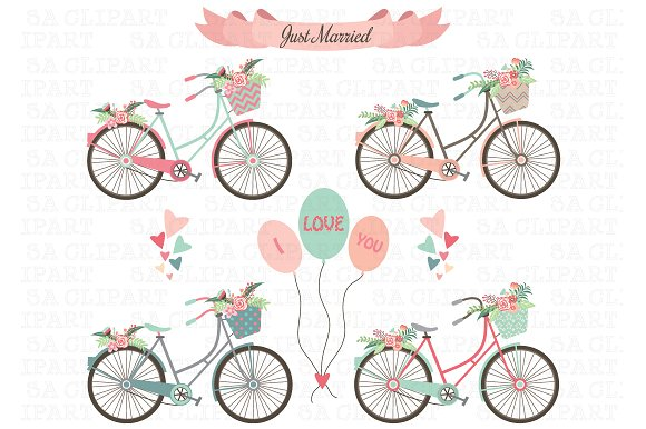 Bike creative daddy . Biking clipart wedding