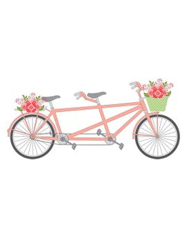 Biking clipart wedding. Shoptagr tandem bike vector