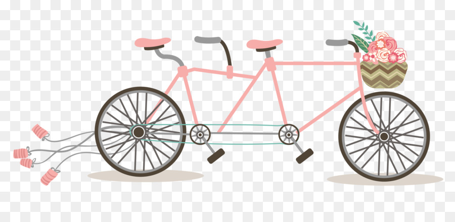 Invitation tandem bicycle clip. Biking clipart wedding
