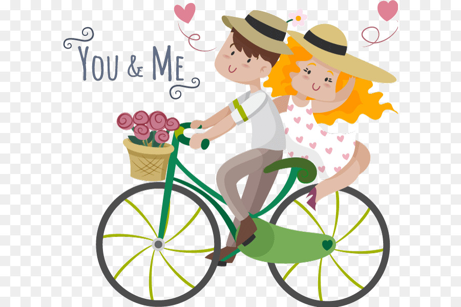 Love background gift . Bicycle clipart wedding