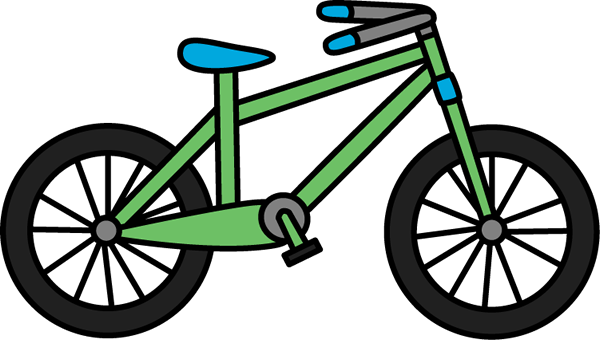 Clip art images green. Bicycle clipart