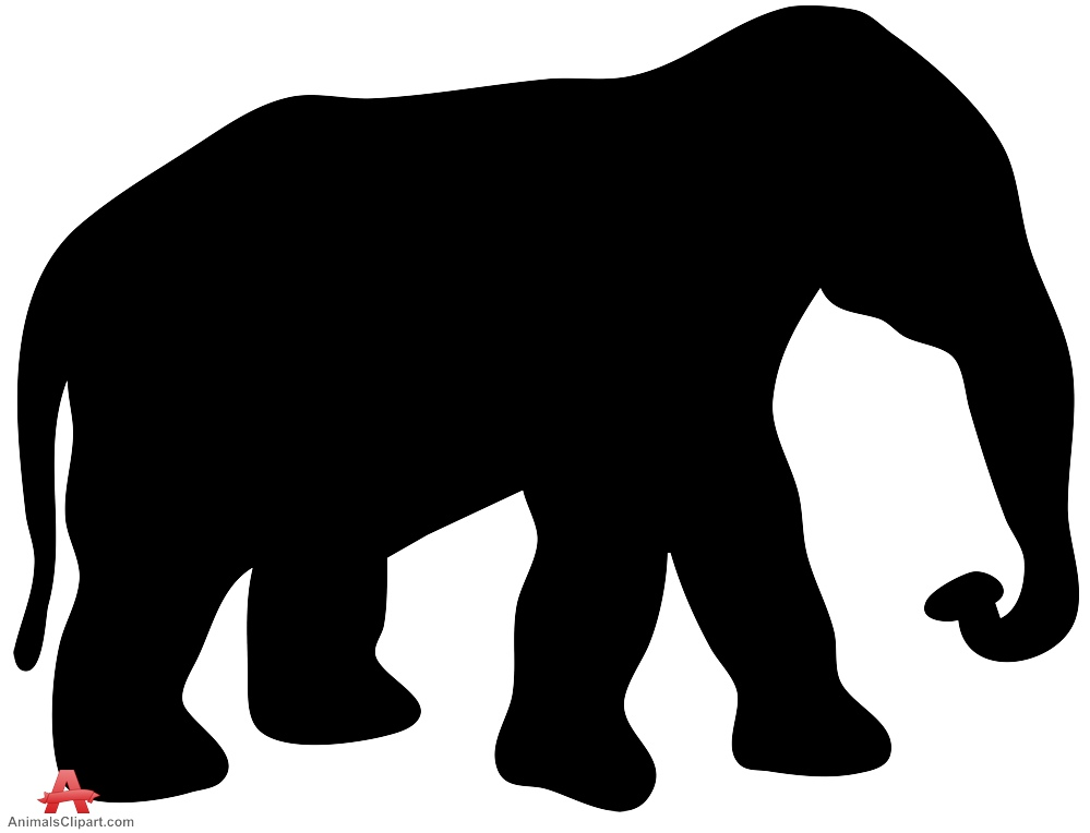Africa silhouette at getdrawings. Big clipart african elephant