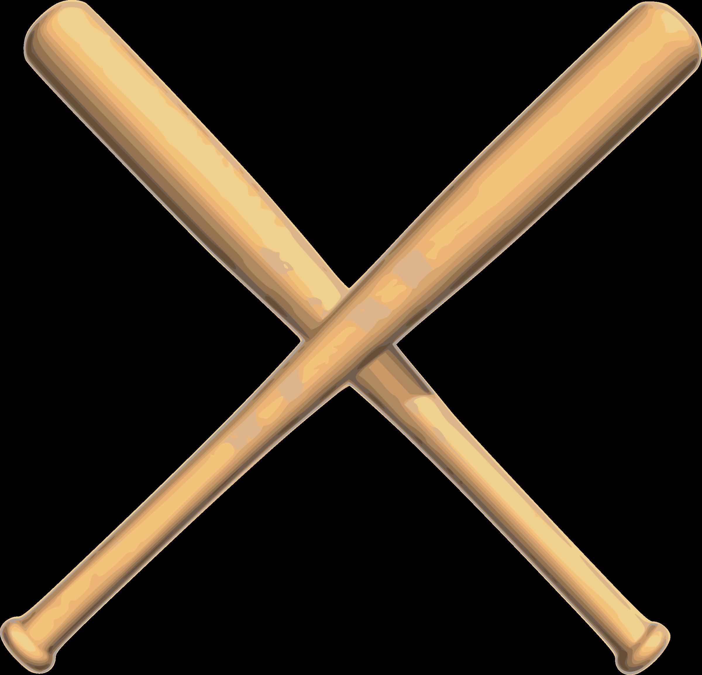 Crossed bats image png. Big clipart baseball bat