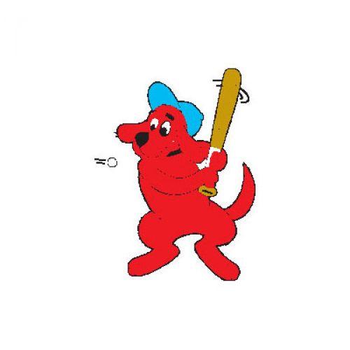 Jumbo clifford red dog. Big clipart baseball bat