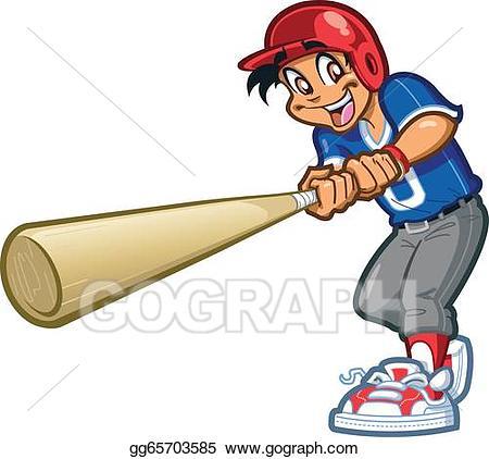Vector swing illustration gg. Big clipart baseball bat