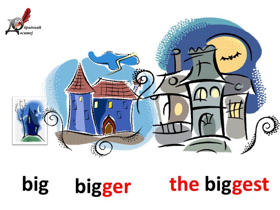Big clipart big bigger big. Comparison of adjectives revision