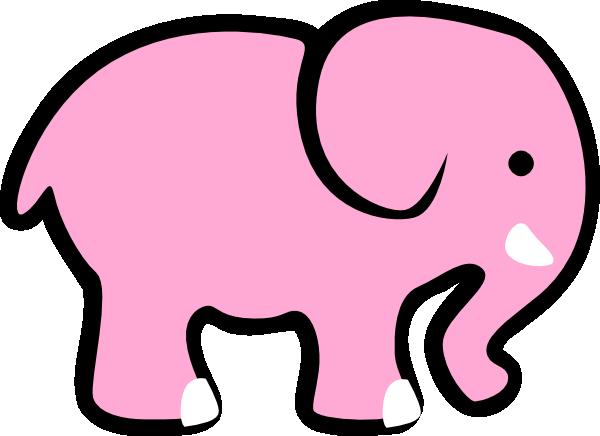 Big clipart big elephant. Adorable pink clip art