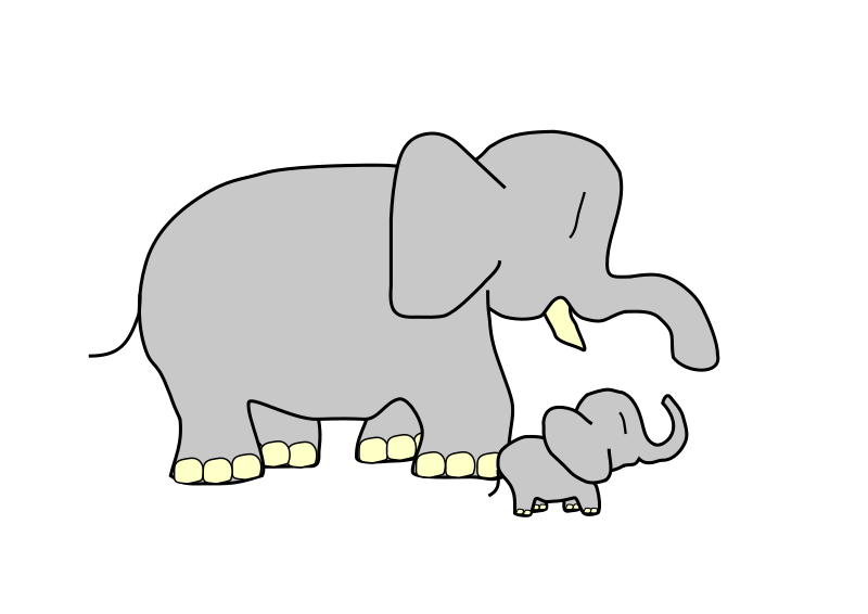 Young clipart animated. Free elephant and animations