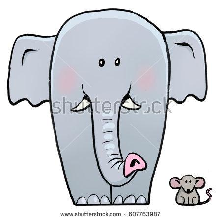 Picture of a cartoon. Big clipart big elephant