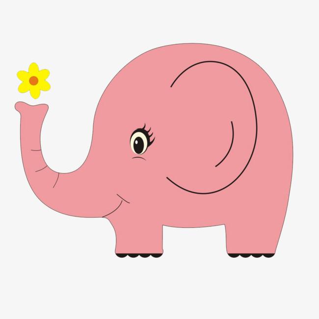 Big clipart big elephant. Pink ear png image