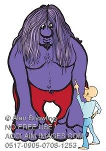Big clipart big guy. Illustration of little standing