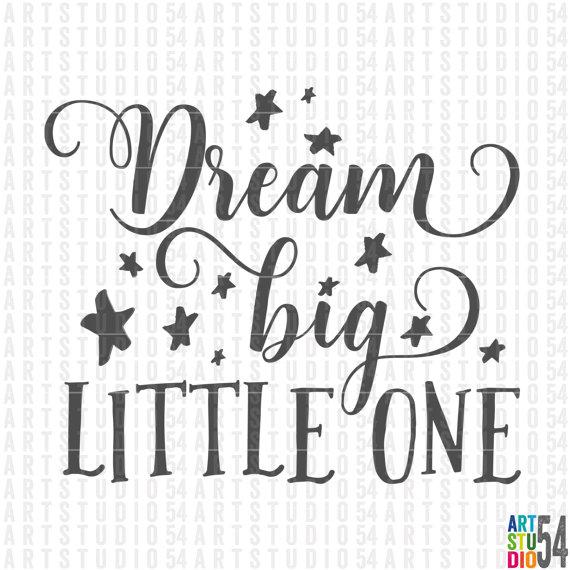 Big clipart big little. Dream one digital file