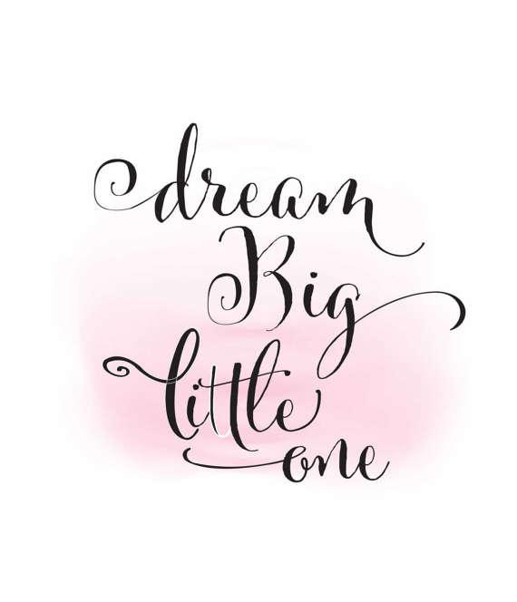 Big clipart big little. Dream one baby girl