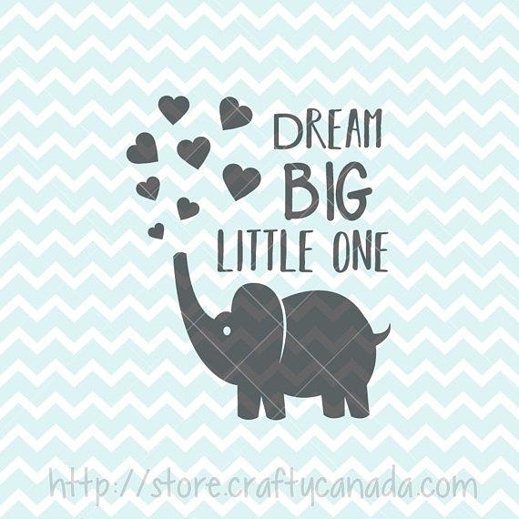 Dream one elephant svg. Big clipart big little