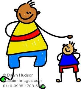 Big clipart big little. Illustration of a kid