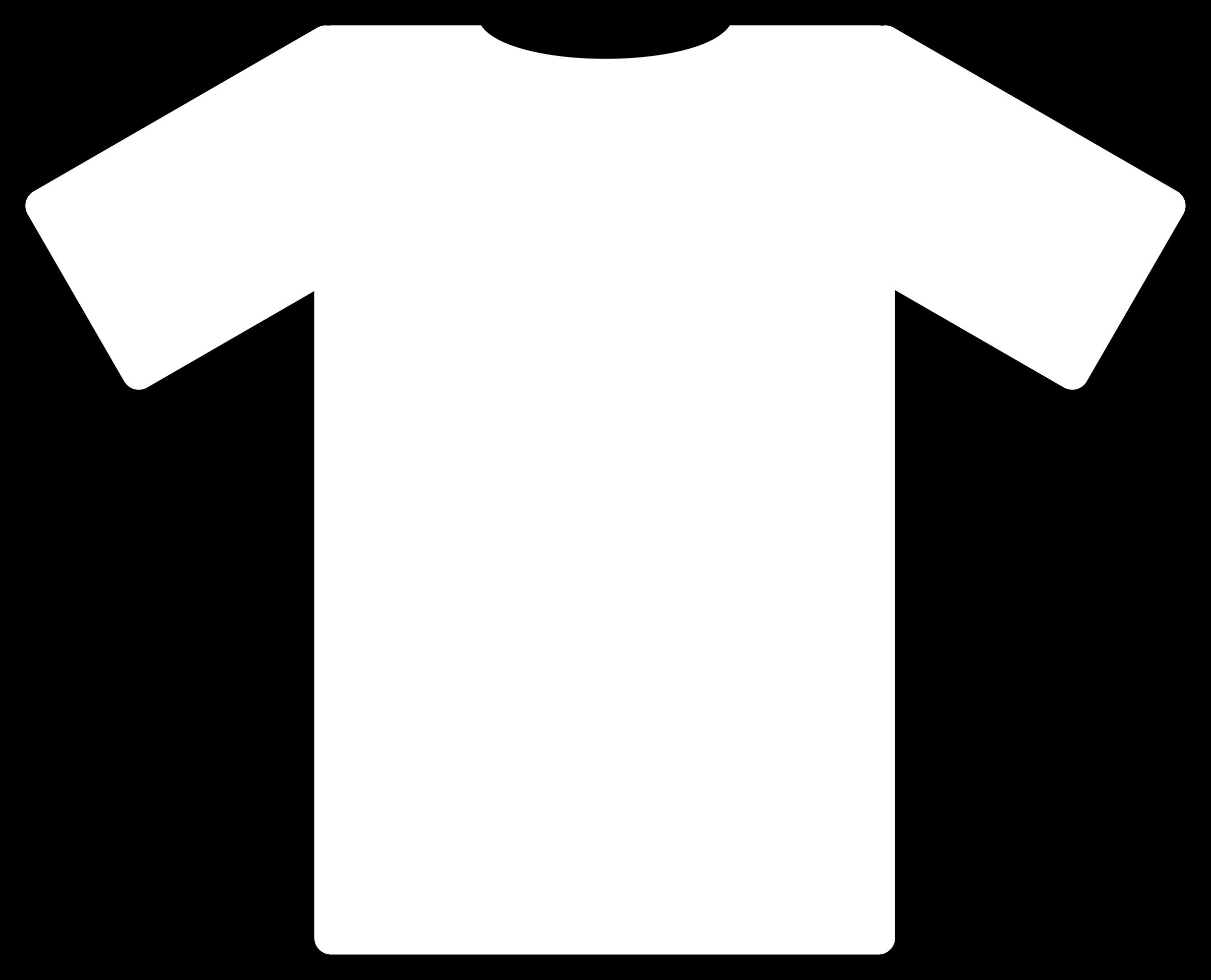 Clipart shirt silhouette. White t big image