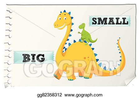 Big clipart big small. Eps illustration opposite adjectives