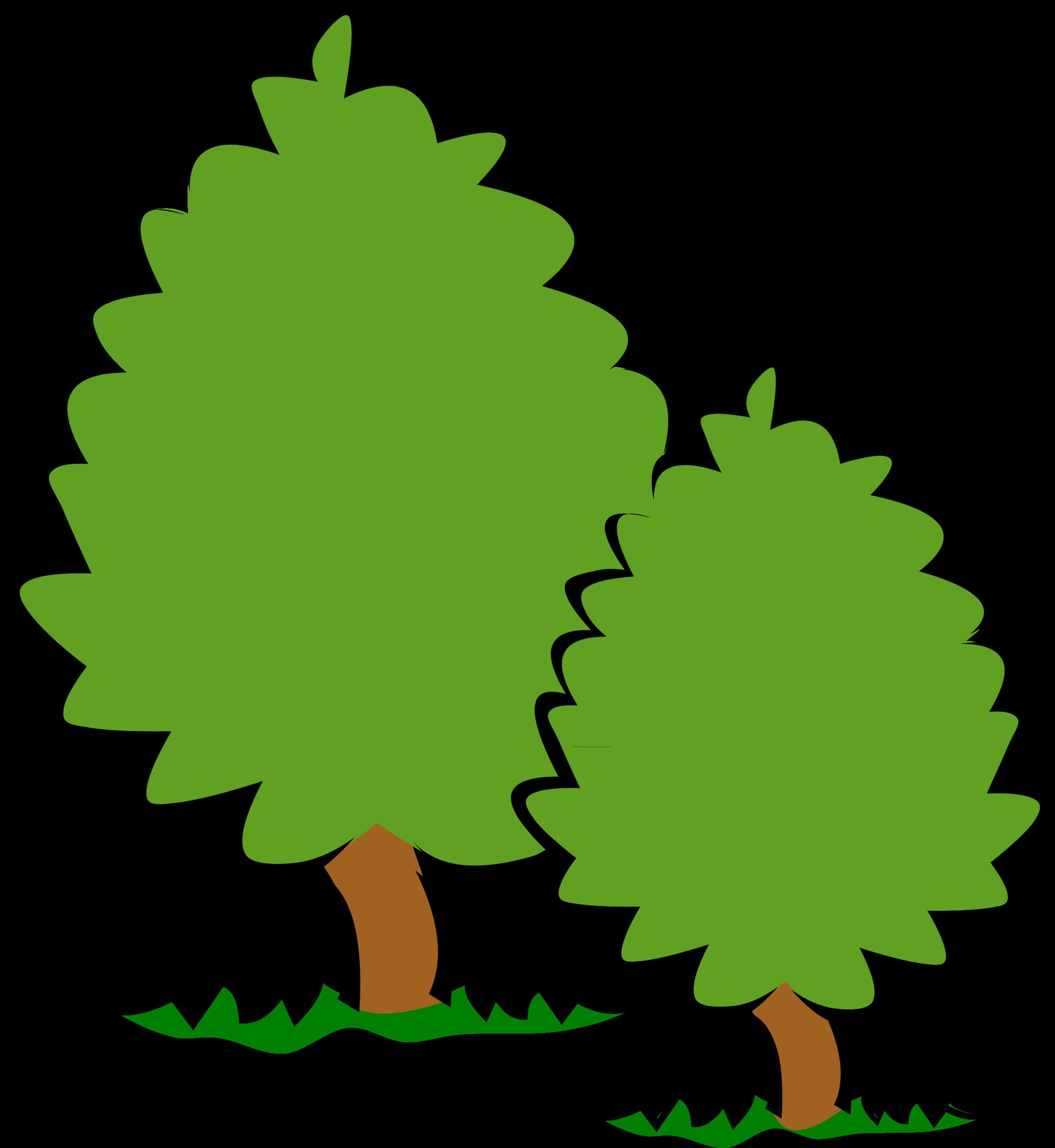 Trees bushes image png. Big clipart big small