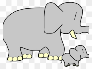 Big clipart big small. Larger mother baby animal