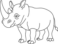 Big clipart black and white. Search results for rhino