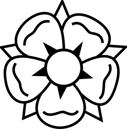 Big clipart black and white. Flower simple flowers panda