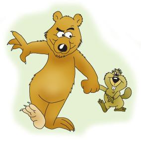 Bears can t climb. Big clipart brown bear