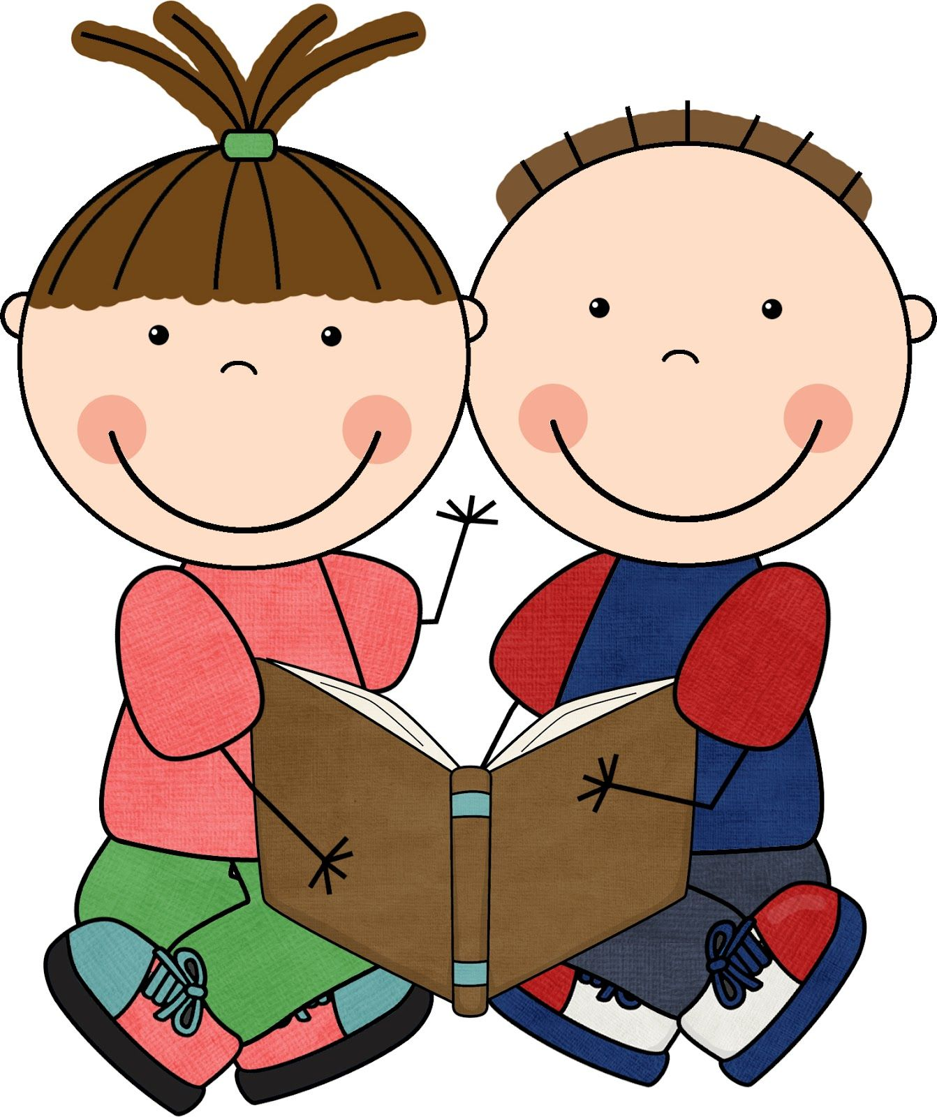 Toddler clipart buddy read. Reading buddies girl book