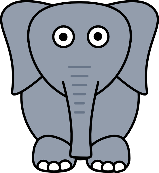 Clipart elephant ant. Larger cartoon pencil and