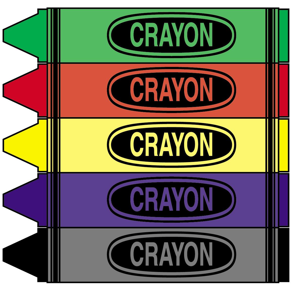 Clip art color panda. Crayons clipart big