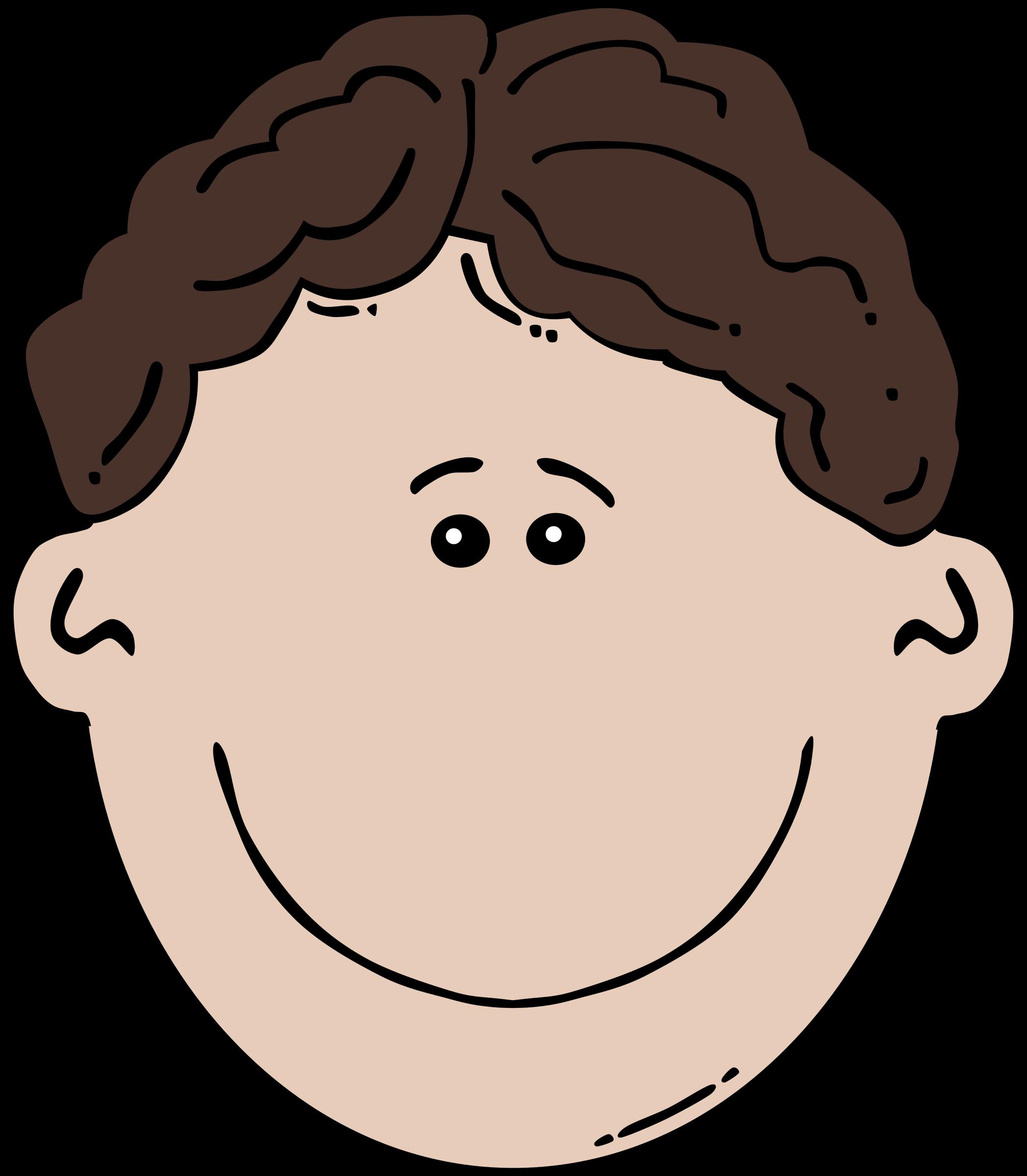 Son clipart face to face. Boy cartoon big image
