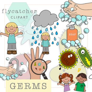 Big clipart germ. Hand washing and germs