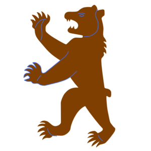 Brown clip art at. Big clipart grizzly bear