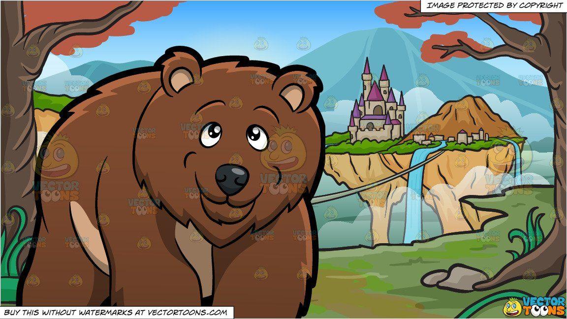 Big clipart grizzly bear. Cartoon a and an