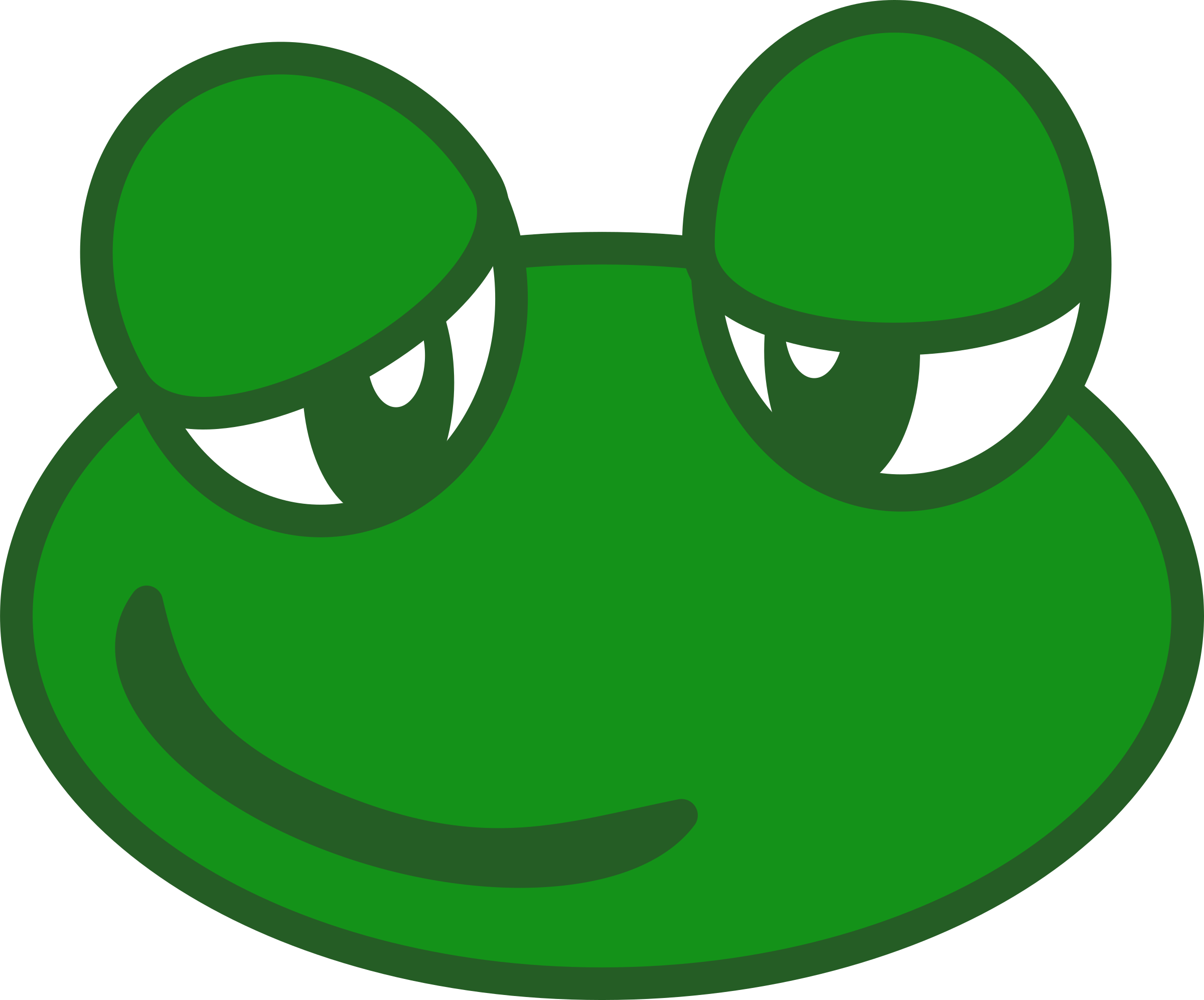 Frogs clipart head. Frog clipground