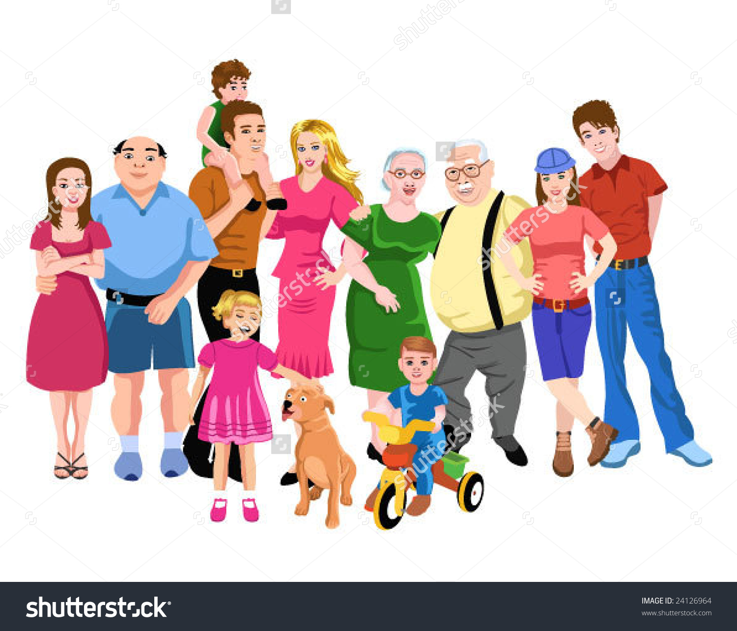 collection of family. Big clipart huge