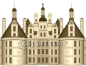 Realistic castle royalty free. Big clipart huge