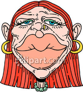 Woman with lips royalty. Big clipart huge