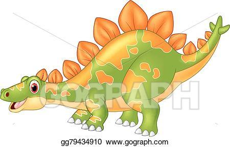 Big clipart huge. Vector art cartoon dinosaur