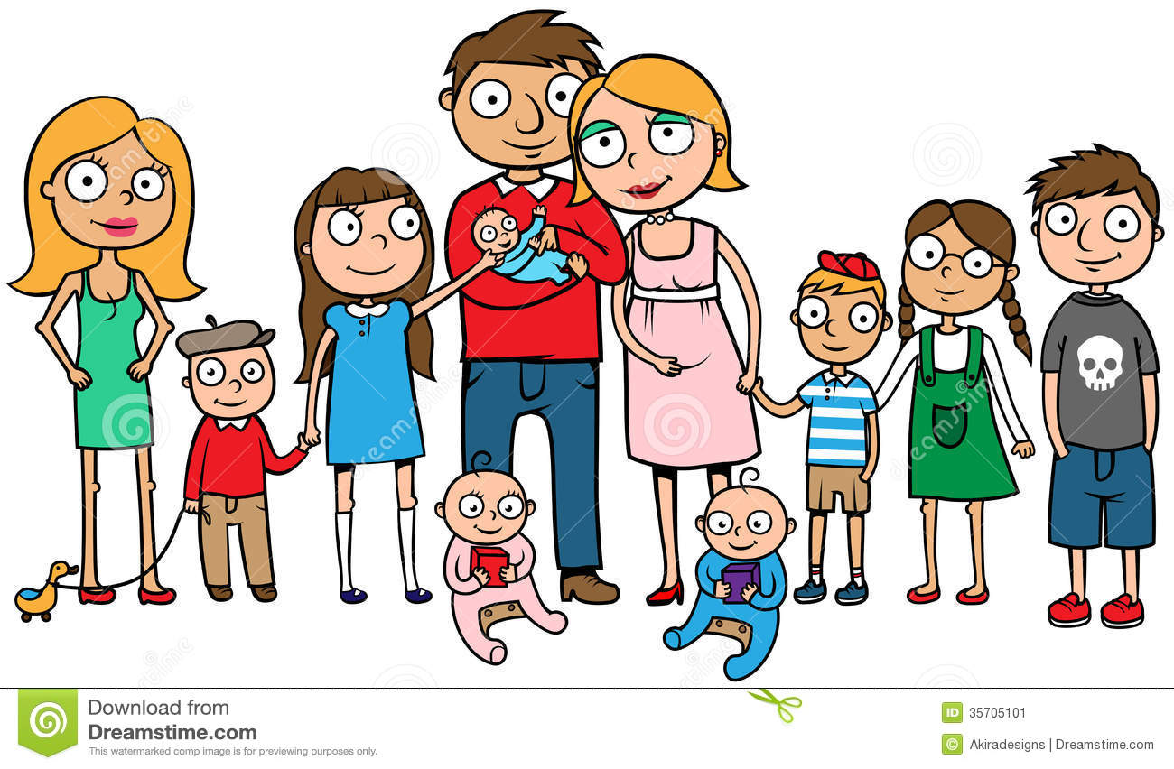 Large family . Big clipart huge