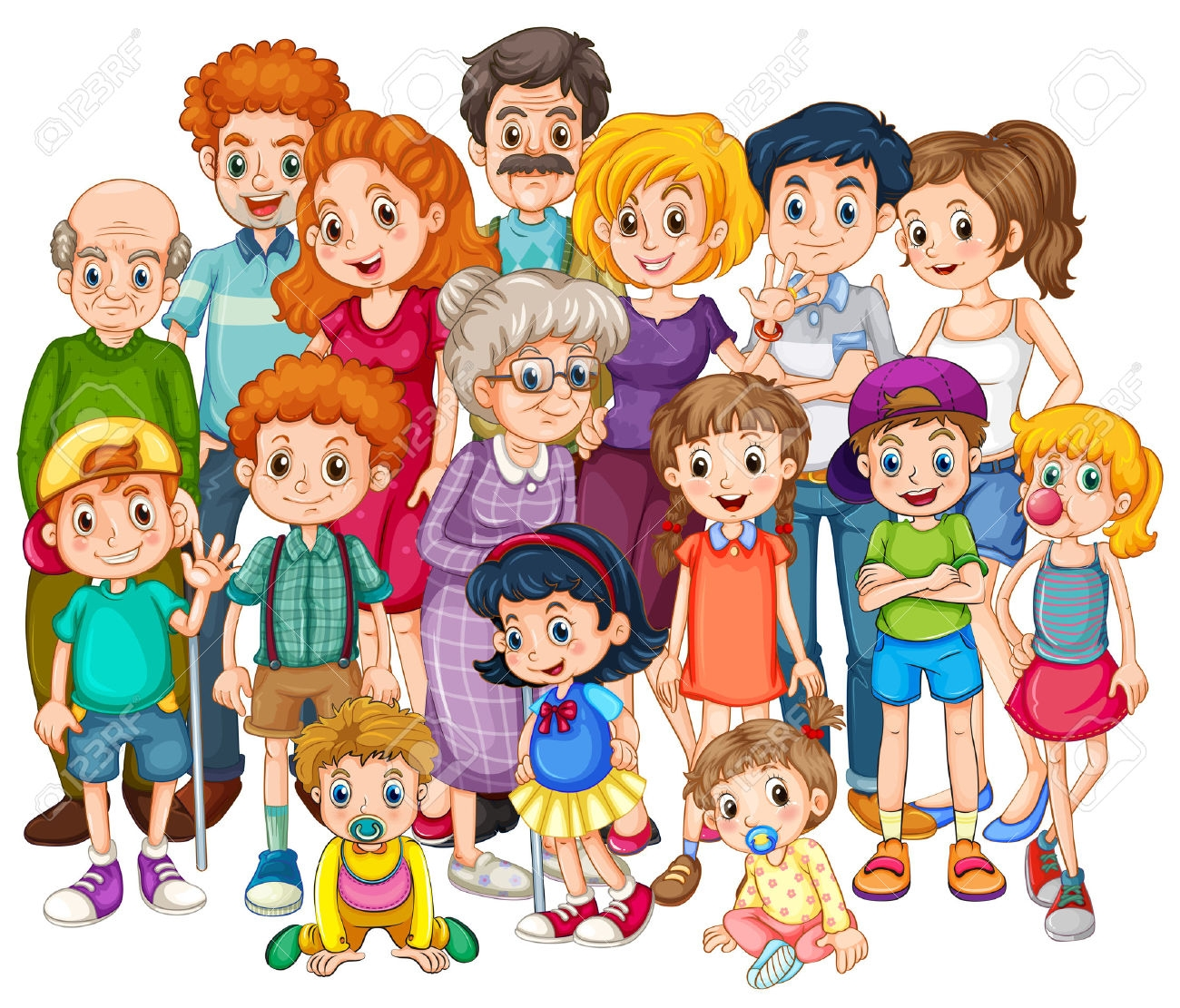 7 clipart family.  collection of happy
