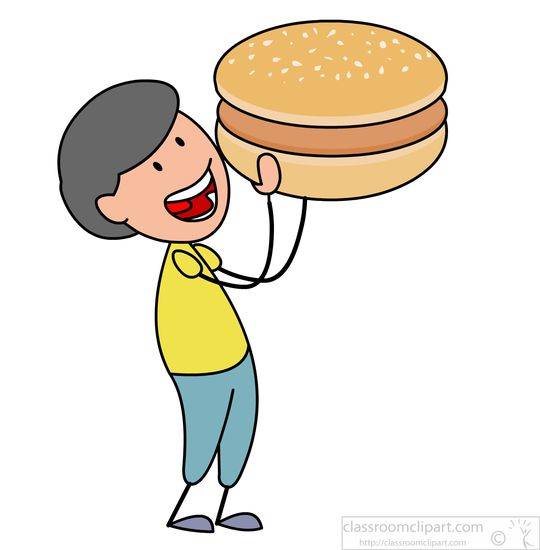 Fast food boy eating. Burger clipart pizza burger